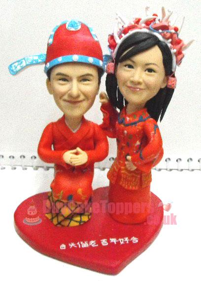 Chinese traditional wedding cake topper Custom cake toppers