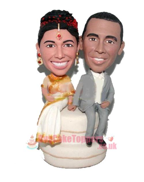 Cake Toppers Uk Personalised : Indian couple wedding cake topper - Custom cake toppers ...