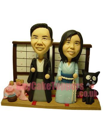 Japanese Kimono Wedding Cake Topper Custom Cake Toppers