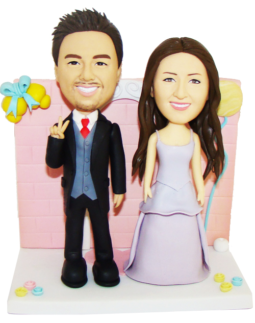 New Happy Couple Wedding Cake Topper Custom Cake Toppers
