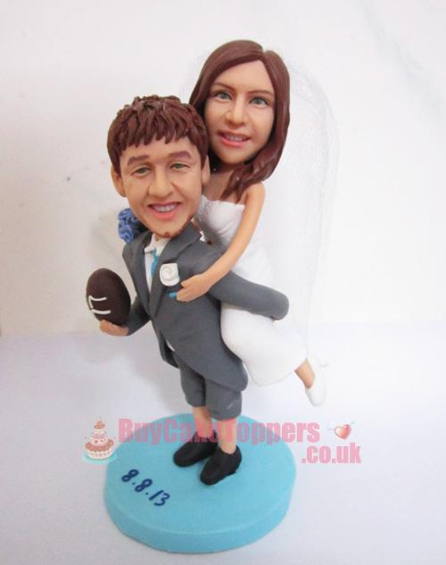 Rugby Player Wedding Cake Topper Uk