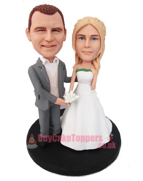 Get Married Personalised Wedding Cake Topper
