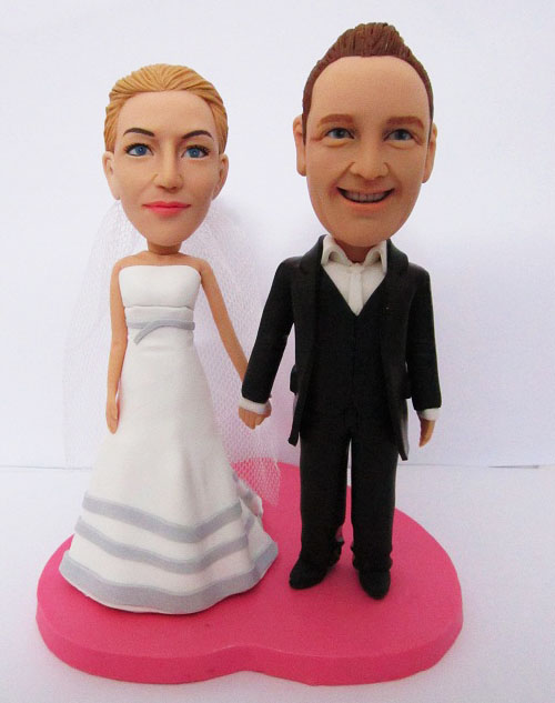 Newly Married Couple Wedding Cake Topper Custom Cake Toppers